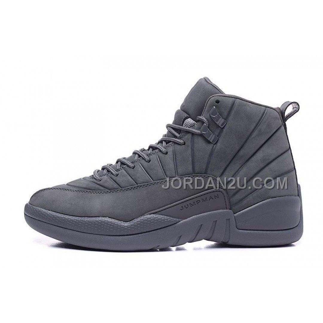 "3f0217fe03a9 ... Now Buy 2015 Air Jordan 12 ""PSNY"" Dark Grey-Black Cheap For Sale ..."