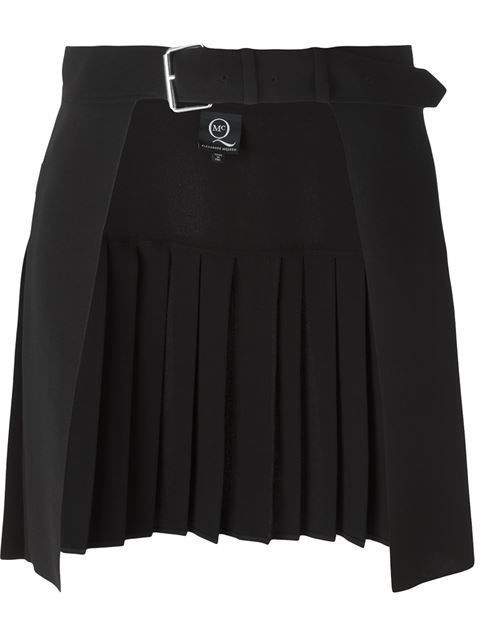88b0bfca7023 McQ Alexander McQueen open front pleated skirt | Pleated Skirts ...