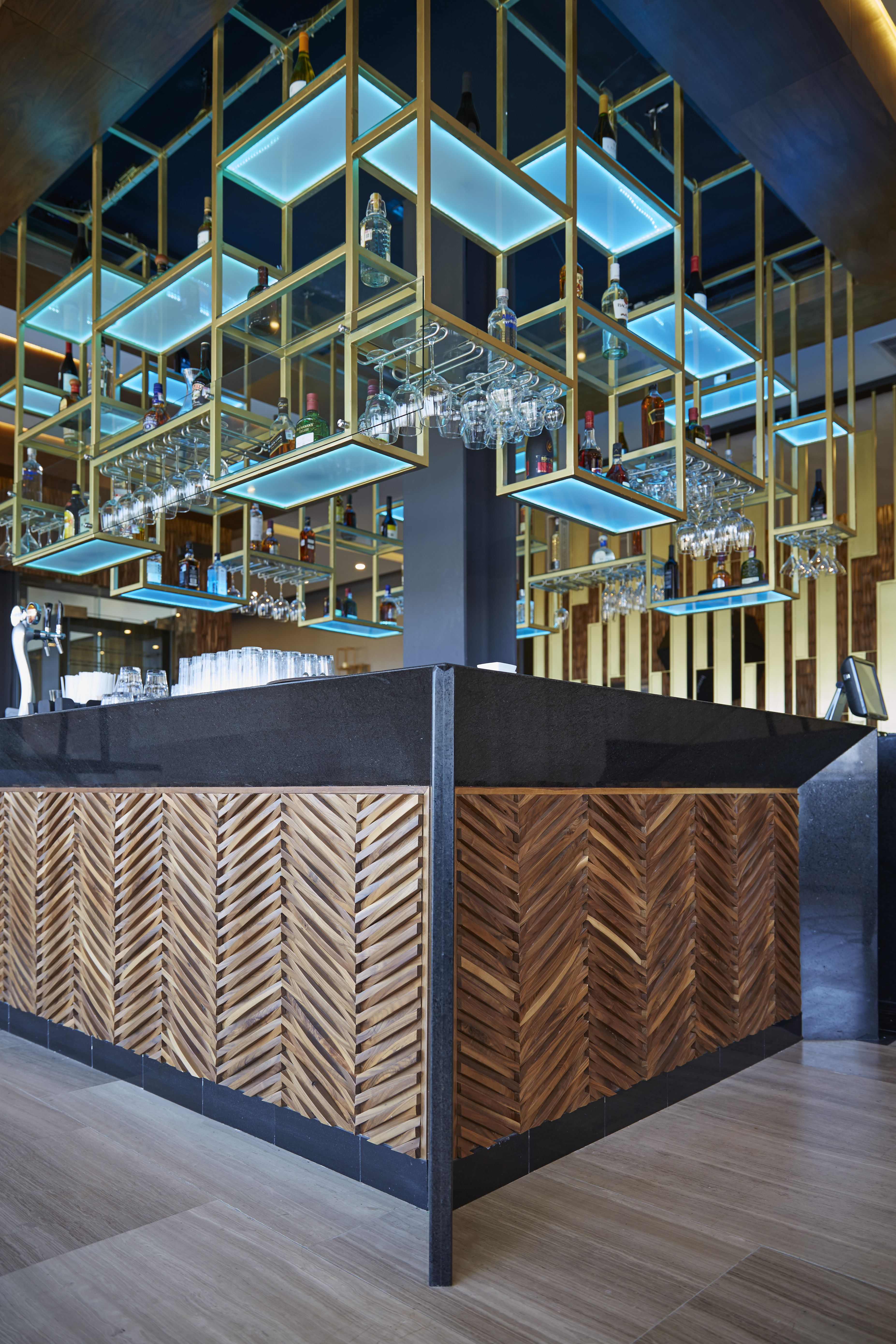 curva chevron wallcoverings from the inceptiv collection on great wall chinese restaurant id=47152