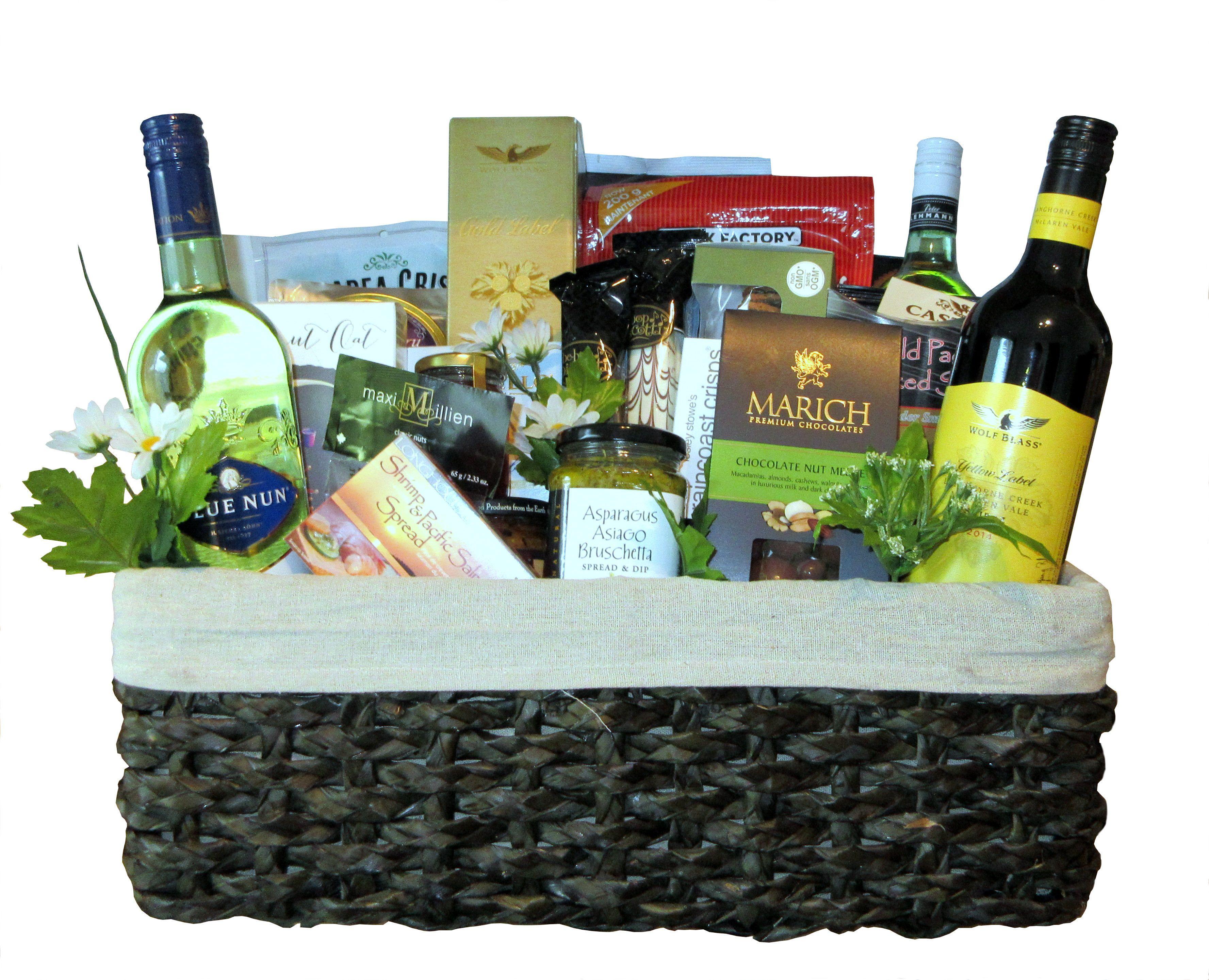 Custom gift basket for golf club silent auction picnic
