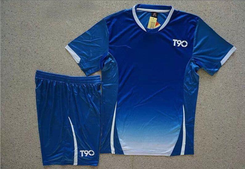 0d332818f Soccer Jerseys Cheap-T90 Blue Training Blank Uniform  4155
