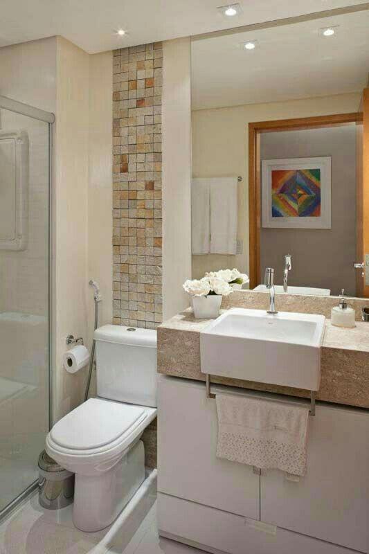 Pastilhas estilo pedra delicadeza banheiro com detalhes - Reforma piso pequeno ...