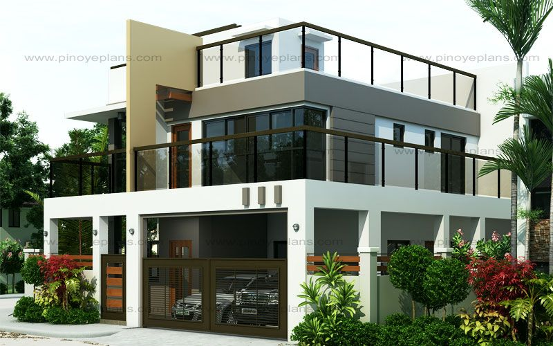 Ester four bedroom two story modern house design pinoy for 10 best house designs by pinoy eplans