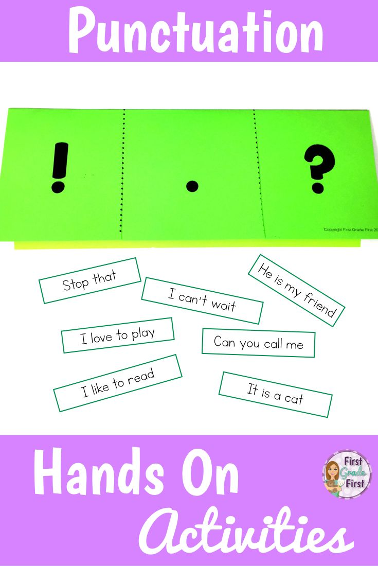 Punctuation Activities Period, Exclamation Mark, and Question Mark ...
