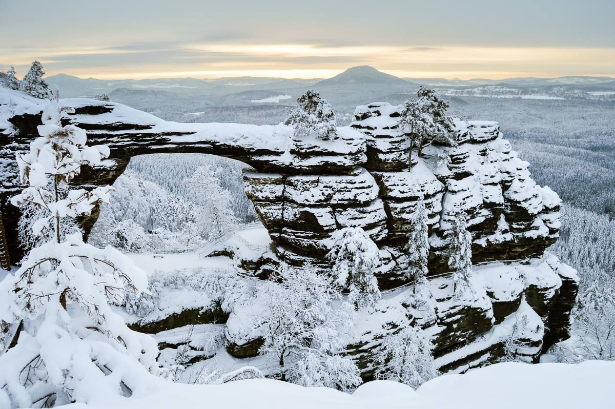 Discover The Land Of Narnia In Bohemian Switzerland Northern Hikes Narnia Winter Forest Landscape