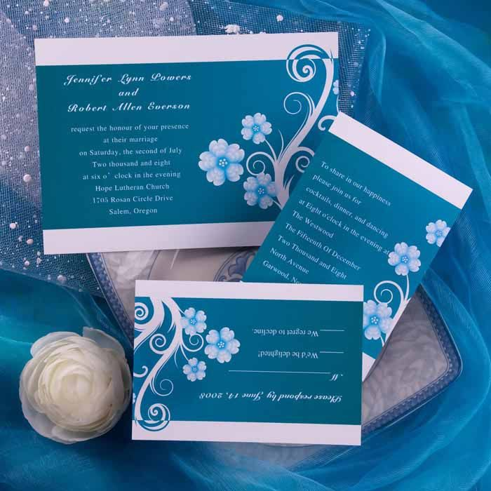 Wedding Invitation Thoughts: Maybe Too Dark Of A Teal Though, I