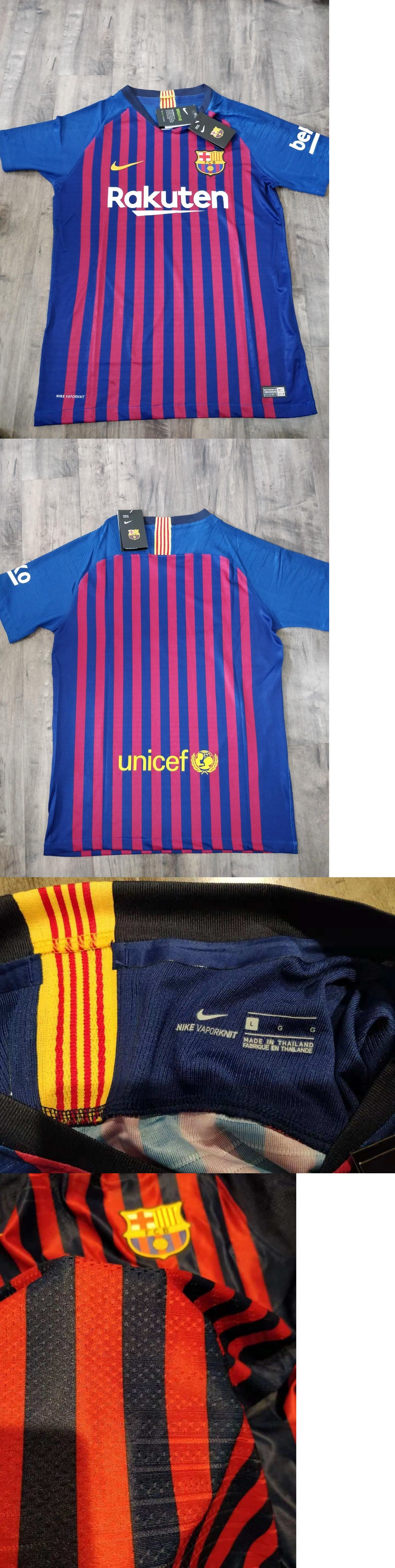Clothing 33485  2018 19 Fc Barcelona Authentic Vapor Match Home Jersey  Player Version Size L -  BUY IT NOW ONLY   60 on  eBay  clothing  barcelona  ... 1b038ac75