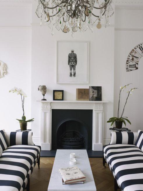 #fireplace #blackandwhite #stripes