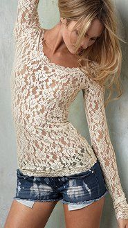 <3 this lace shirt...