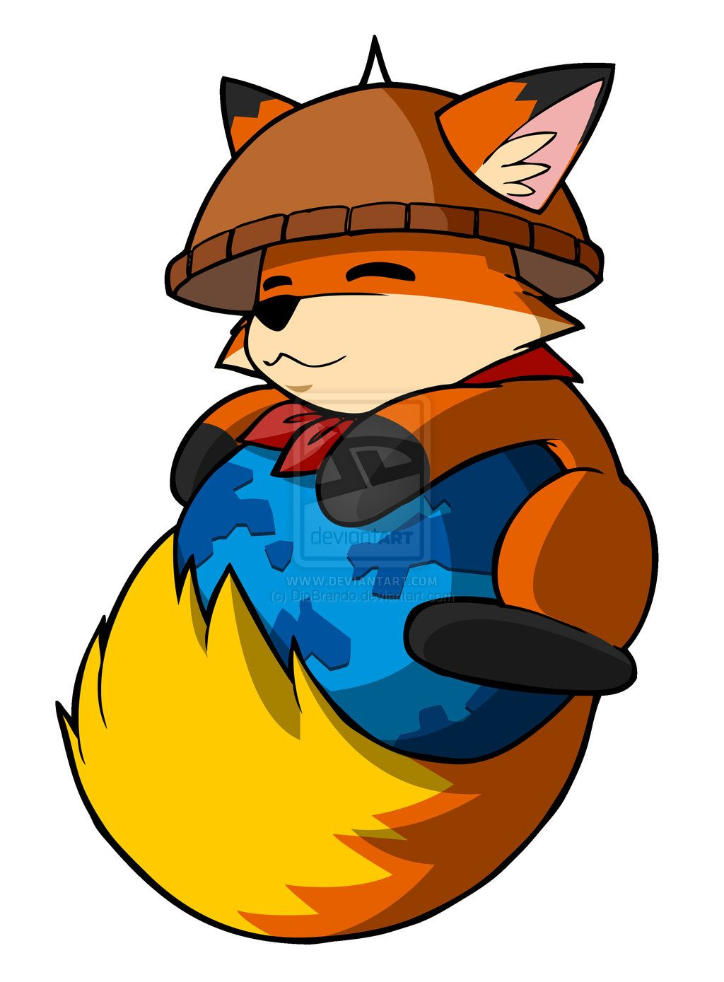 Cute Firefox fox! Amazing on the tail. (With images