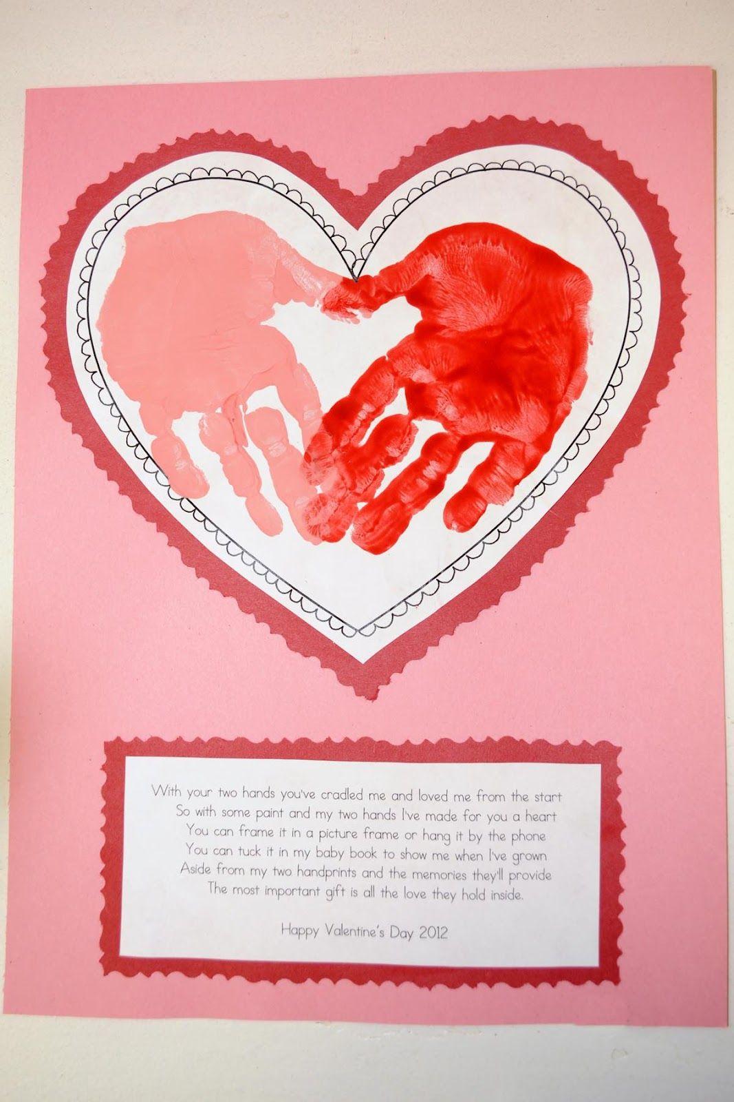 Valentine crafts for kindergarteners -  Angela Miller Cute For Grandparents When They Come Kindergarten Craft