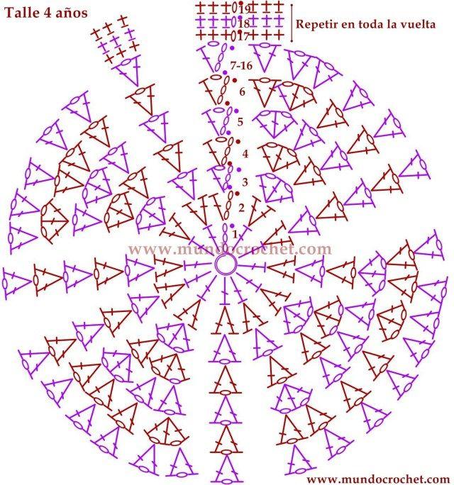 Gorro en punto v de varetas a crochet o ganchillo044 | Crochet ...