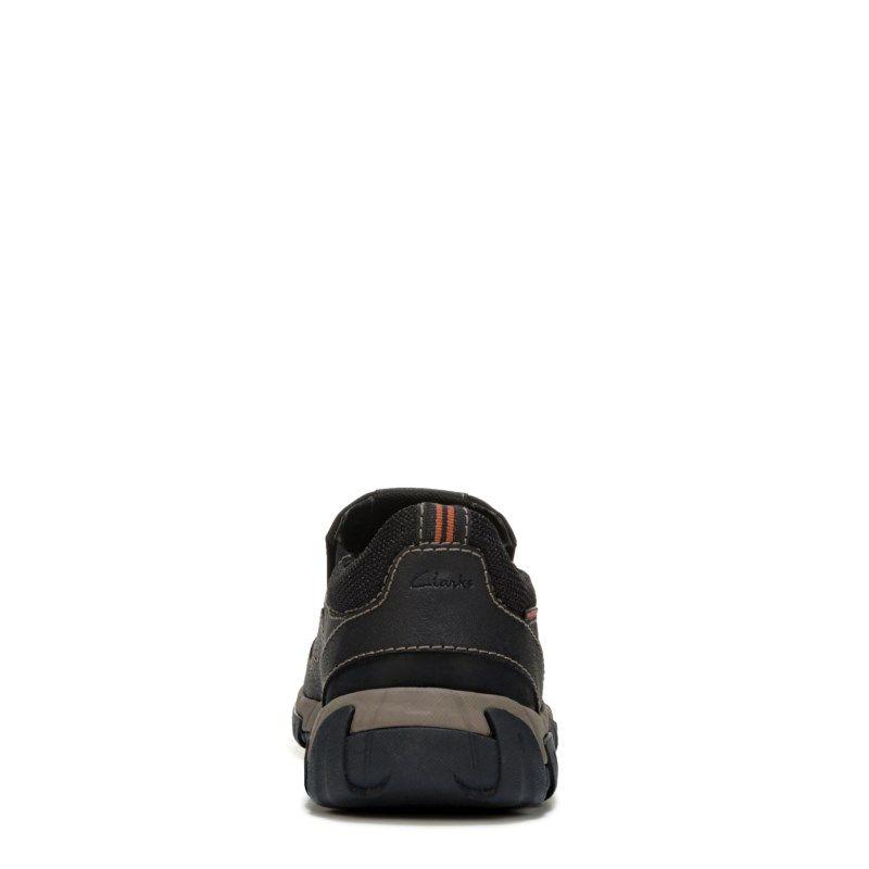 Clarks Men's Wallbeck Style Medium/Wide Waterproof Slip On Shoes (Black Leather)