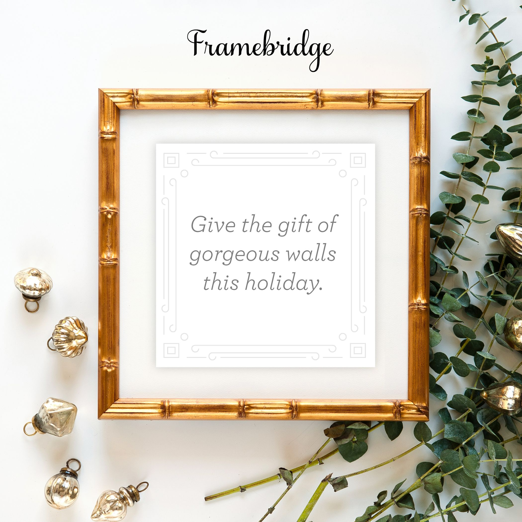 Send beautifully custom framed gifts and gift cards from Framebridge ...