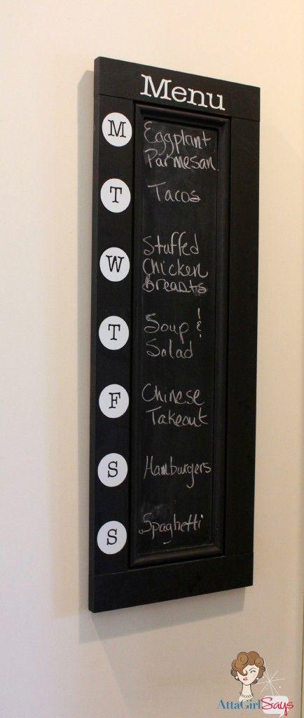 Atta Girl Says: Chalkboard Menu Board   I like that!   Pinterest   Idee