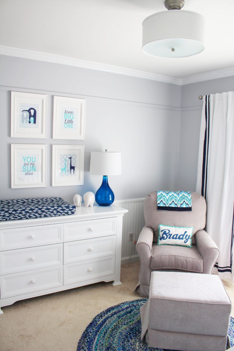 Little Boy Blue Nursery With Images Baby Boy Room Nursery