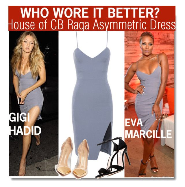"""Who Wore It Better?Gigi Hadid or Eva Marcille?"" by nfabjoy ❤ liked on Polyvore featuring Miu Miu, Gianvito Rossi, WhoWoreItBetter, models, CelebrityStyle and gigihadid"