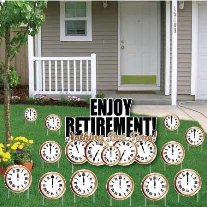Retirement Yard Card Nothing But Time 13 Pcs Yard Cards