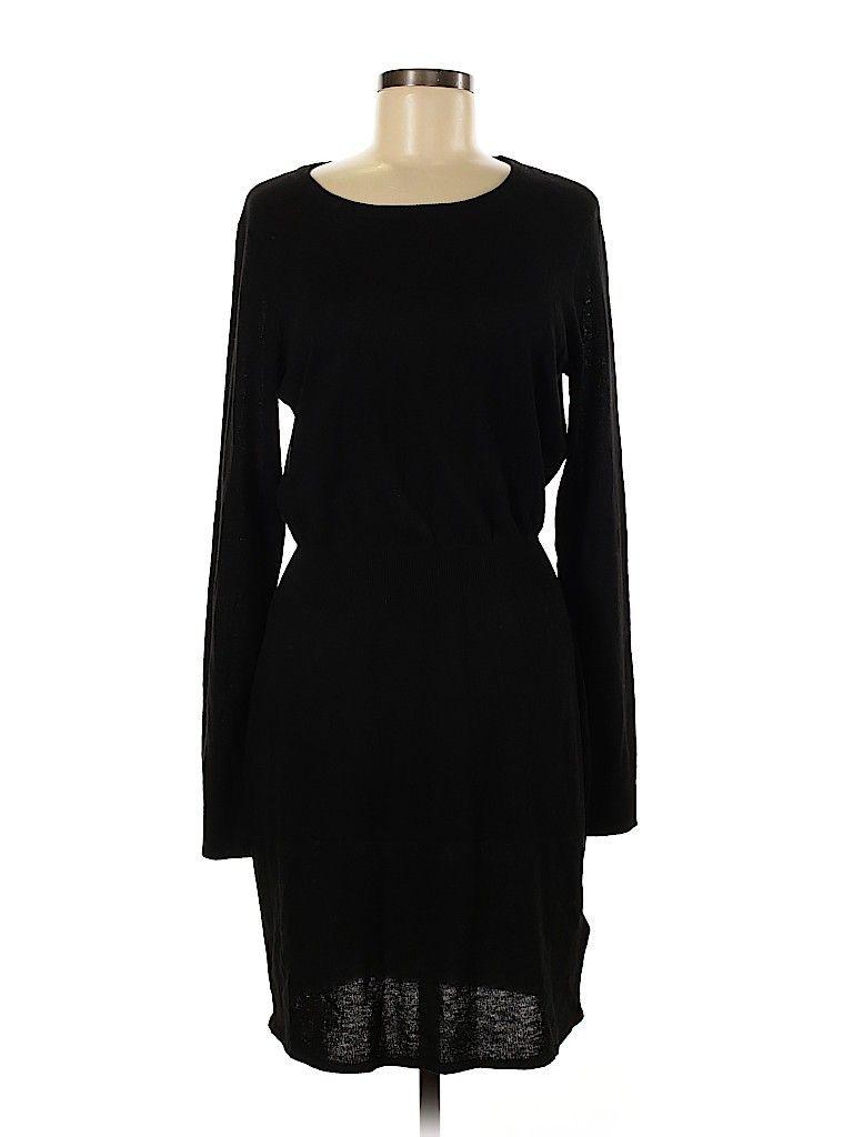 H&M Casual Dress: Black Solid Dresses - Used - Size Medium - H&M
