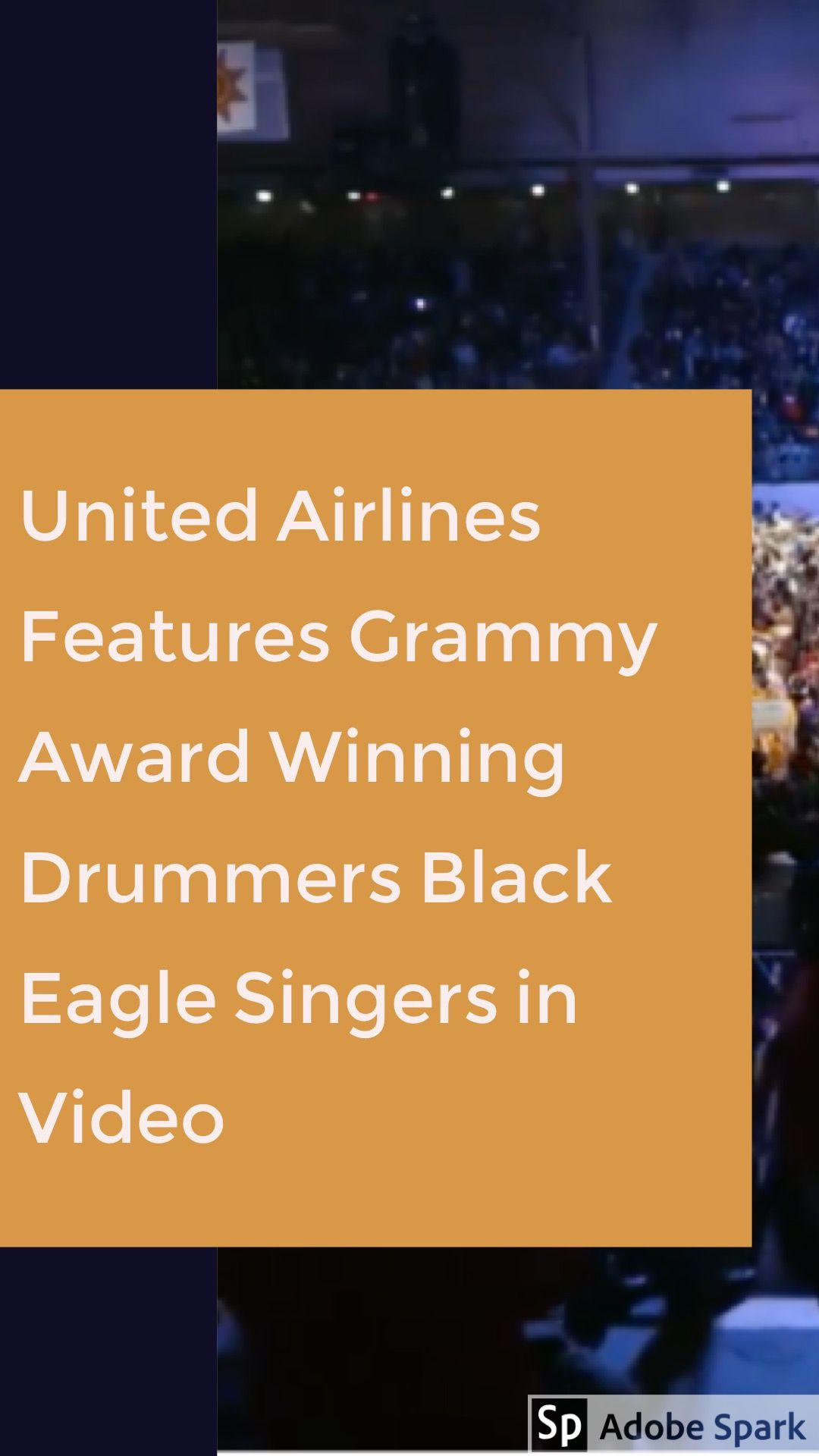 United airlines features grammy award winning drummers black eagle
