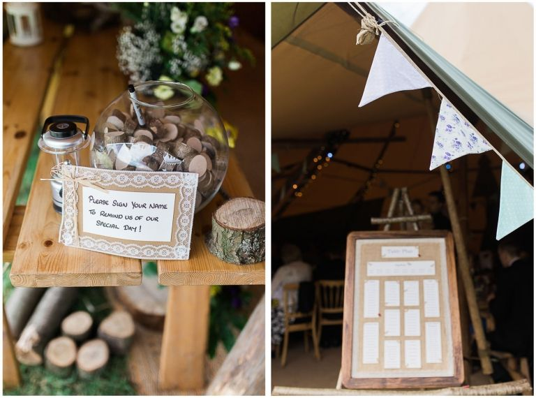 Wedding Decorations Dyptich In New Forest Tipi By Jenny Owens Photography