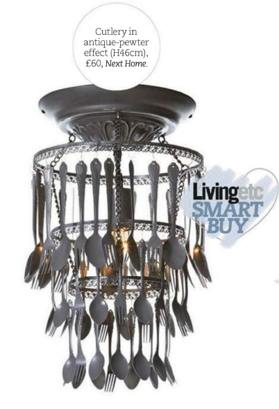 Eclectic Chandelier Diy Spray Painted Old Forks Knives And Spoons In My Kitchen
