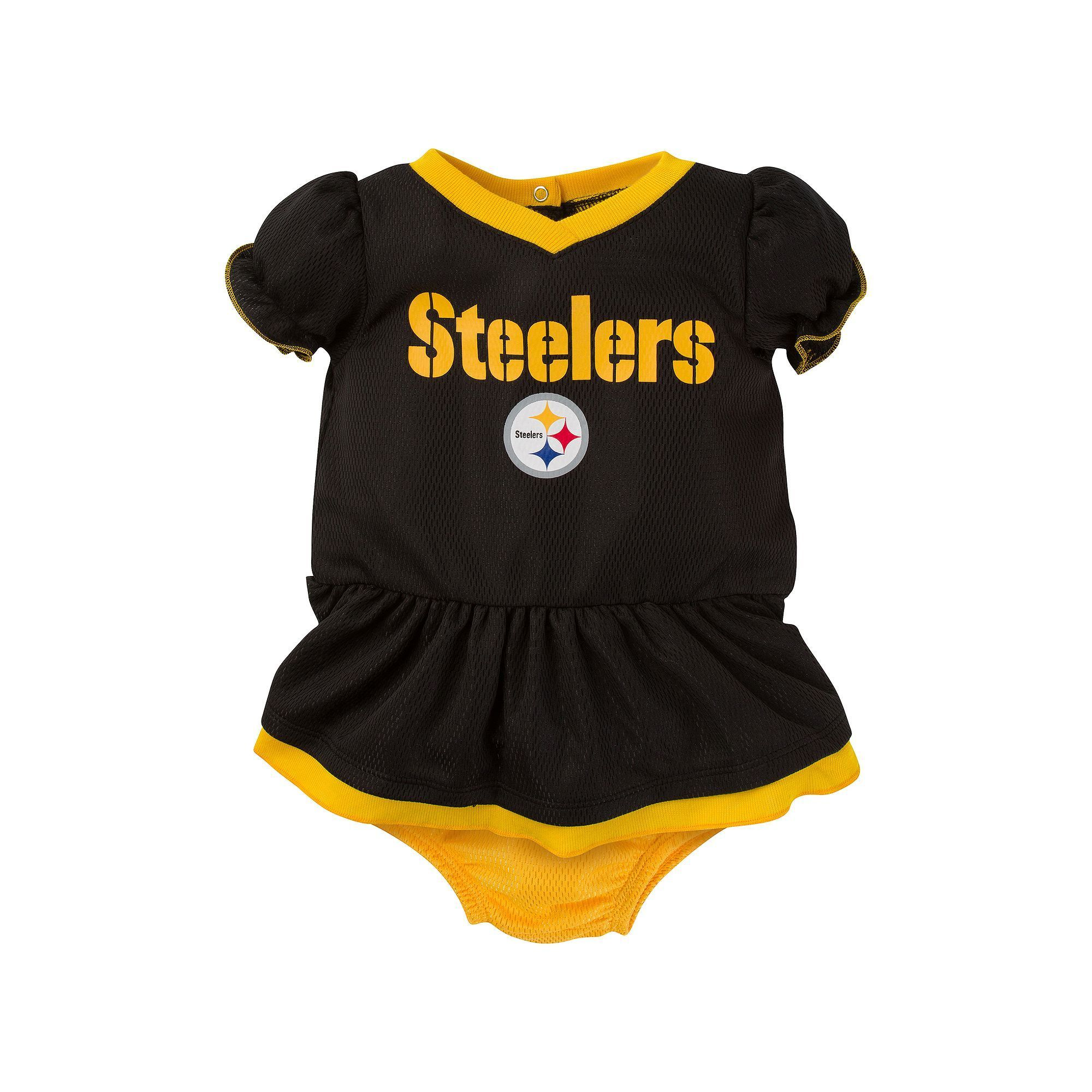 Baby Pittsburgh Steelers Dazzle Dress Set, Infant Girl's, Size: 0-3 Months, Black