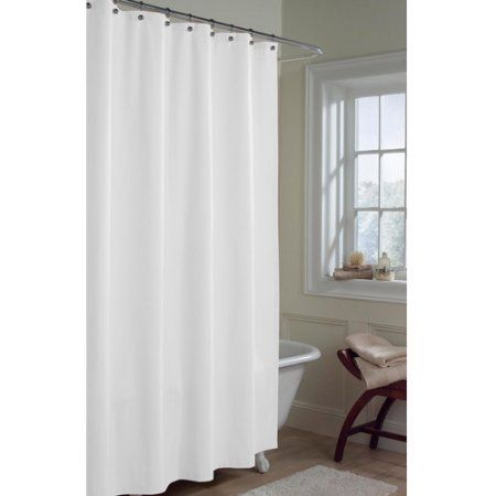 Maytex Microfiber Water Repellent Fabric Shower Curtain Or Liner Size 70 Inch X 72 Inch White Fabric Shower Curtains Curtains Bathtub Walls