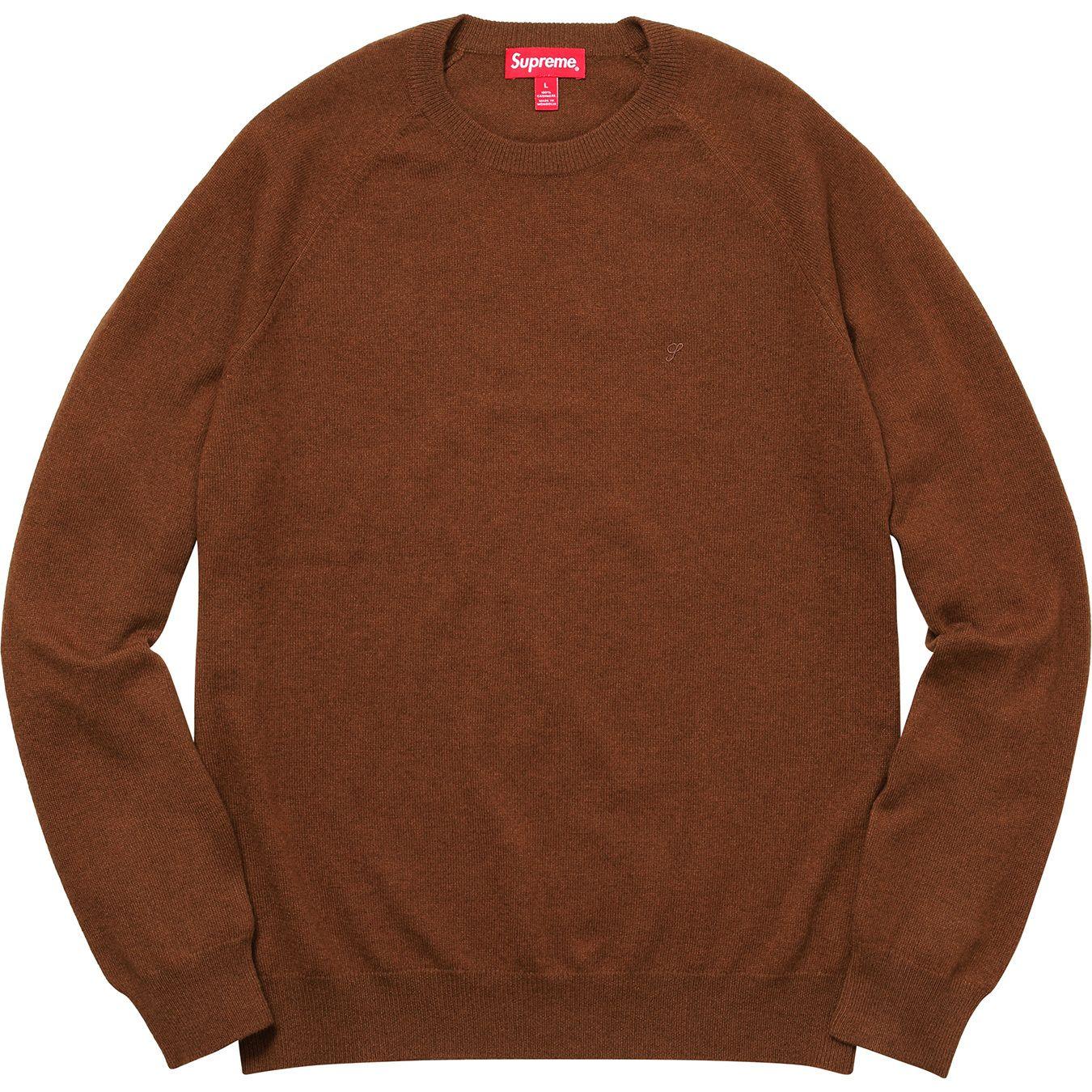 Supreme Cashmere Sweater Brown Supreme Cloth Brown Sweater Sweaters Cashmere Sweaters [ 1350 x 1350 Pixel ]