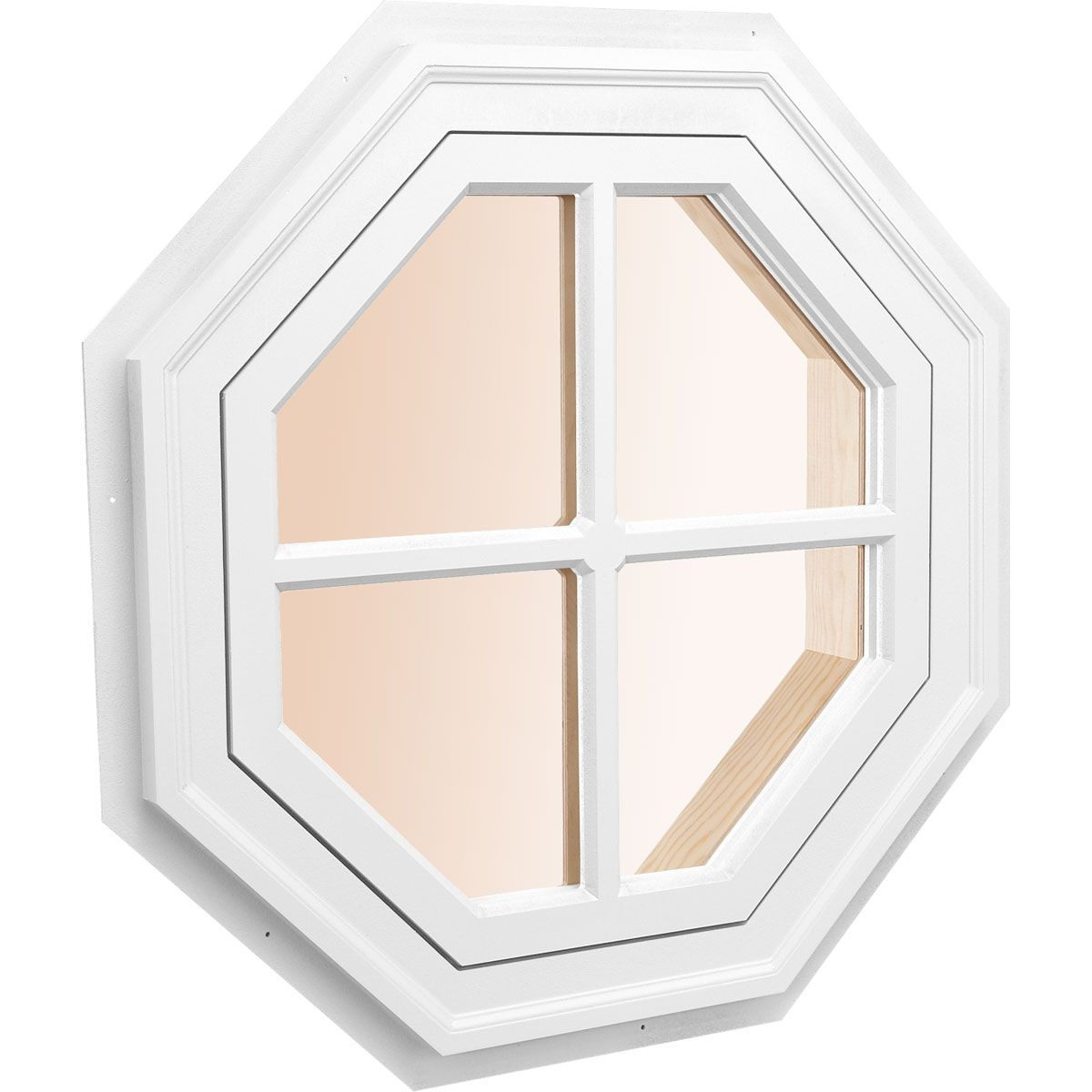 Custom Size Octagonal Decorative Window, Architectural