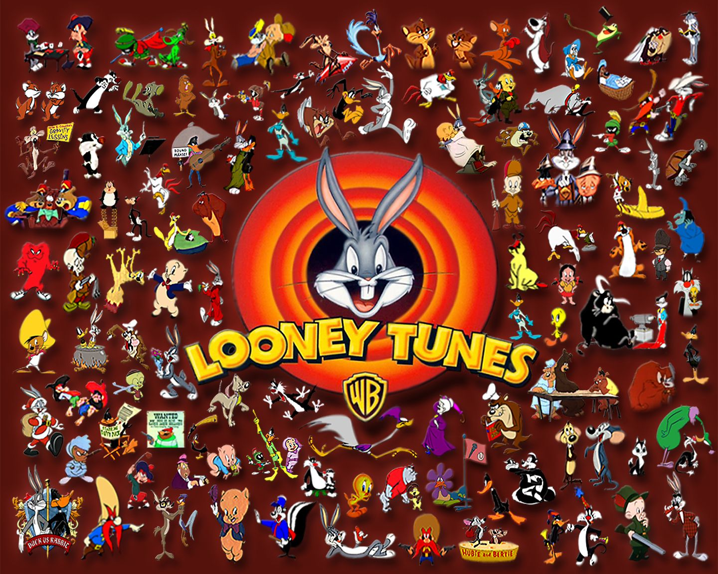 Looney Tunes Collage - warner-brothers-animation wallpaper ...