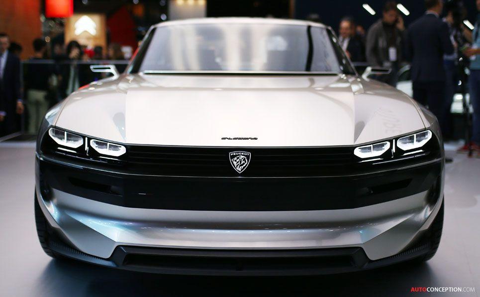 Peugeot 'e-LEGEND' concept car at the 2018 Paris Motor Show #conceptcars