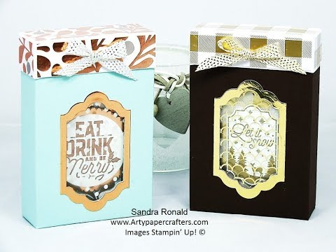 Photo of #2 Advent Countdown -Gift Box for Merry Labels – SandraR Stampin' Up! Demonstrator Independent
