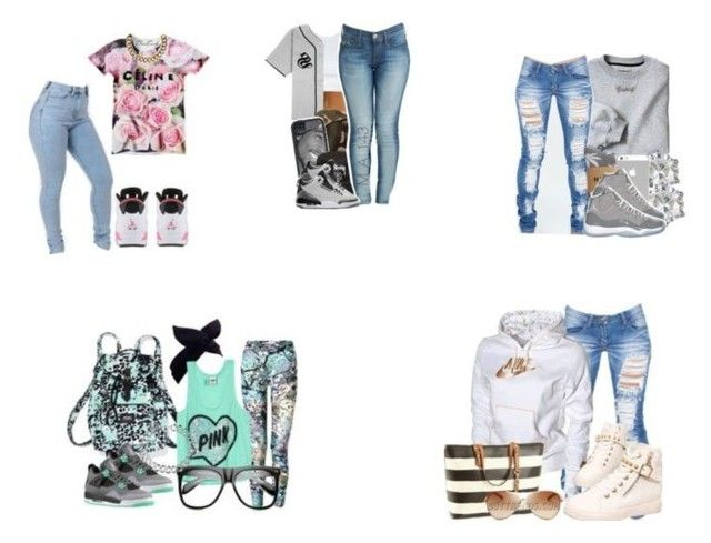 """""""jordans"""" by jasmine-cassh ❤ liked on Polyvore featuring NIKE and Retrò"""