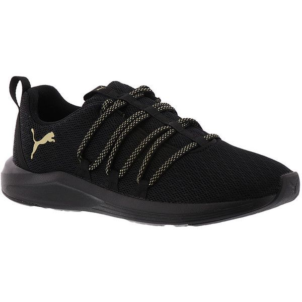 PUMA Prowl Alt Knit Mesh Women's Black Training ($65) ❤ liked on Polyvore  featuring