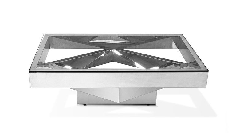 table basse charlize rectangulaire inox