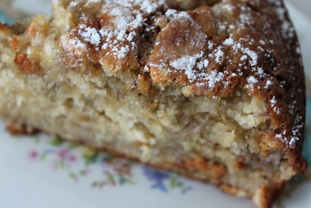 ina garten's old fashioned banana cake. yummy! even better with the cream cheese frosting on top.