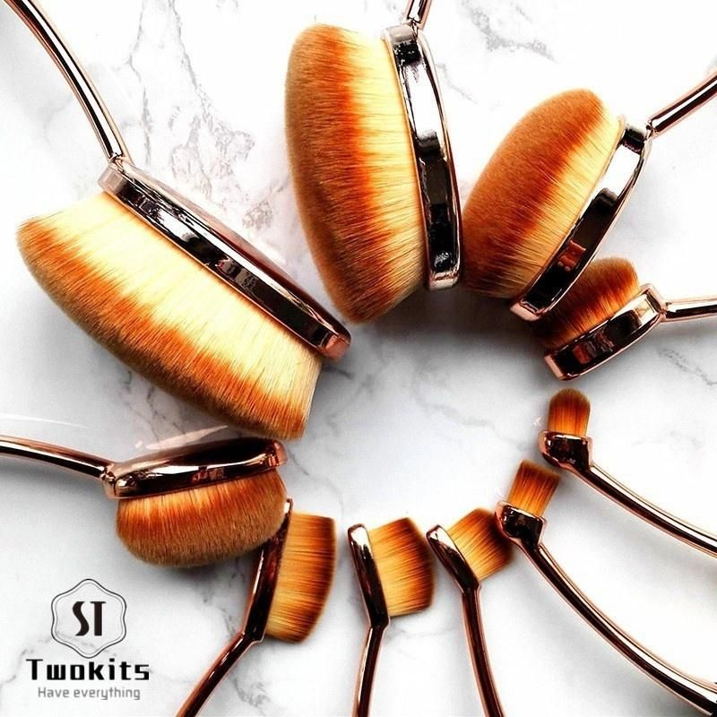 5PC or 10PC Oval Makeup Brush Set in 2020 Makeup brush