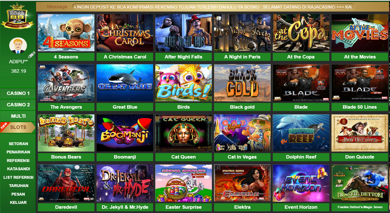 Casino Online Populer Kasino, Indonesia, Jenis