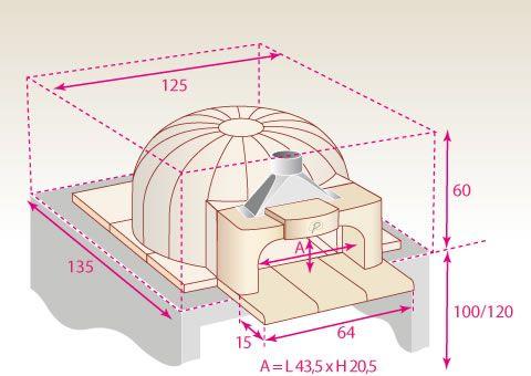 Implantation classique du four à bois Le Panyol 66 rincones