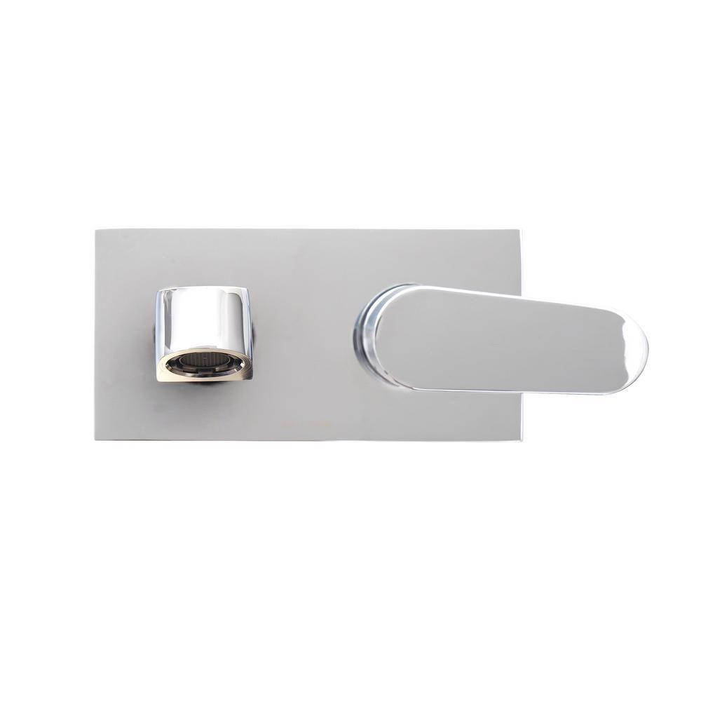 Dyconn Barents Single-Handle Wall Mount Bathroom Faucet in Chrome ...