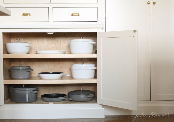 simple and beautiful ideas to organize your pots and pans kitchen organization pan storage on kitchen organization pots and pans id=19177