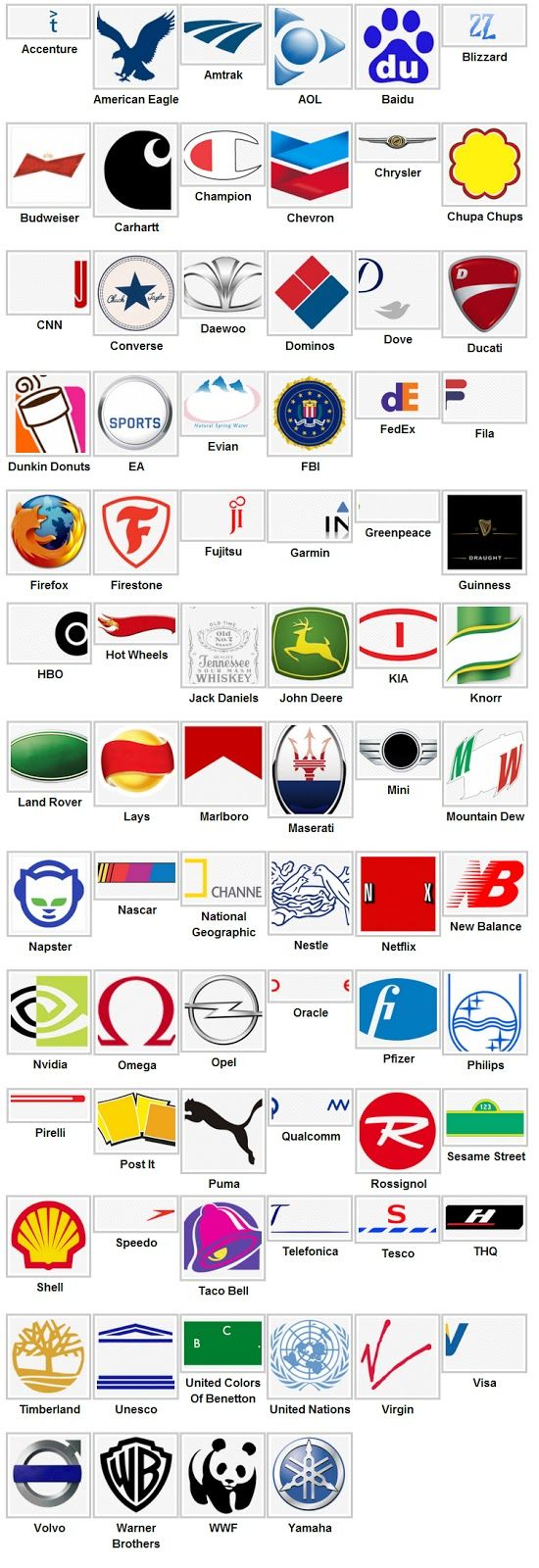 PARUFILE Logo Quiz Answers 2013 Logo quiz answers, Logo