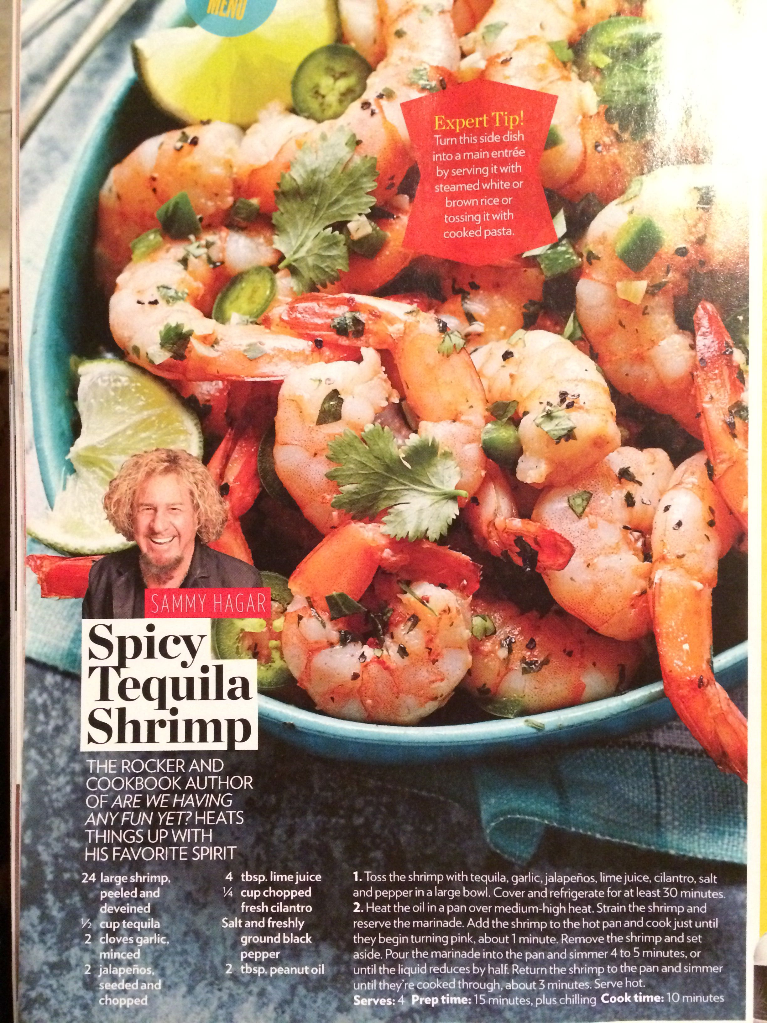 Sammy Hagar Spicy Tequila Shrimp Seafood Dishes How To Cook Pasta Healthy Recipes