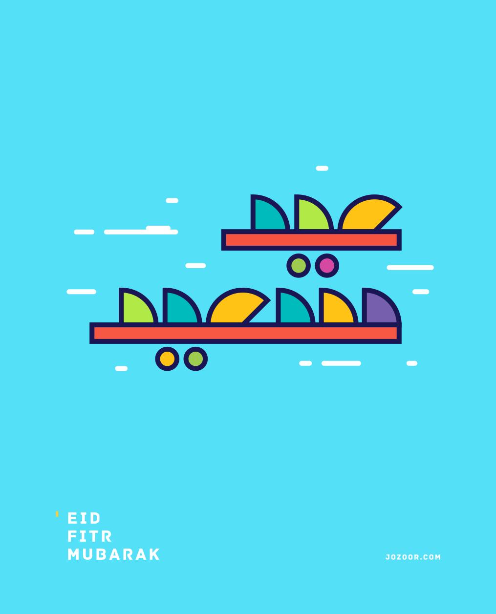 Eid Fitr Mubarak On Behance Illustration Design Pinterest Eid