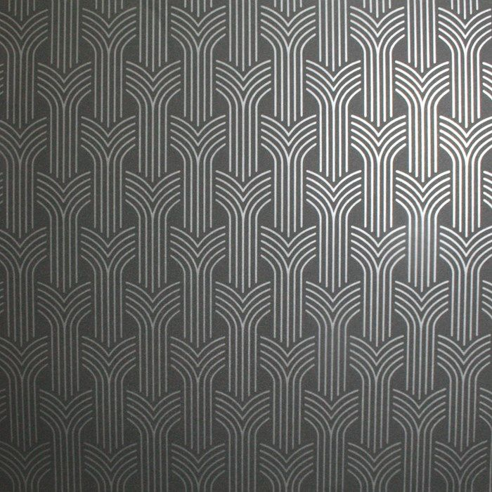 Cinema Art Deco Wallpaper Black Geometric Wall Coverings
