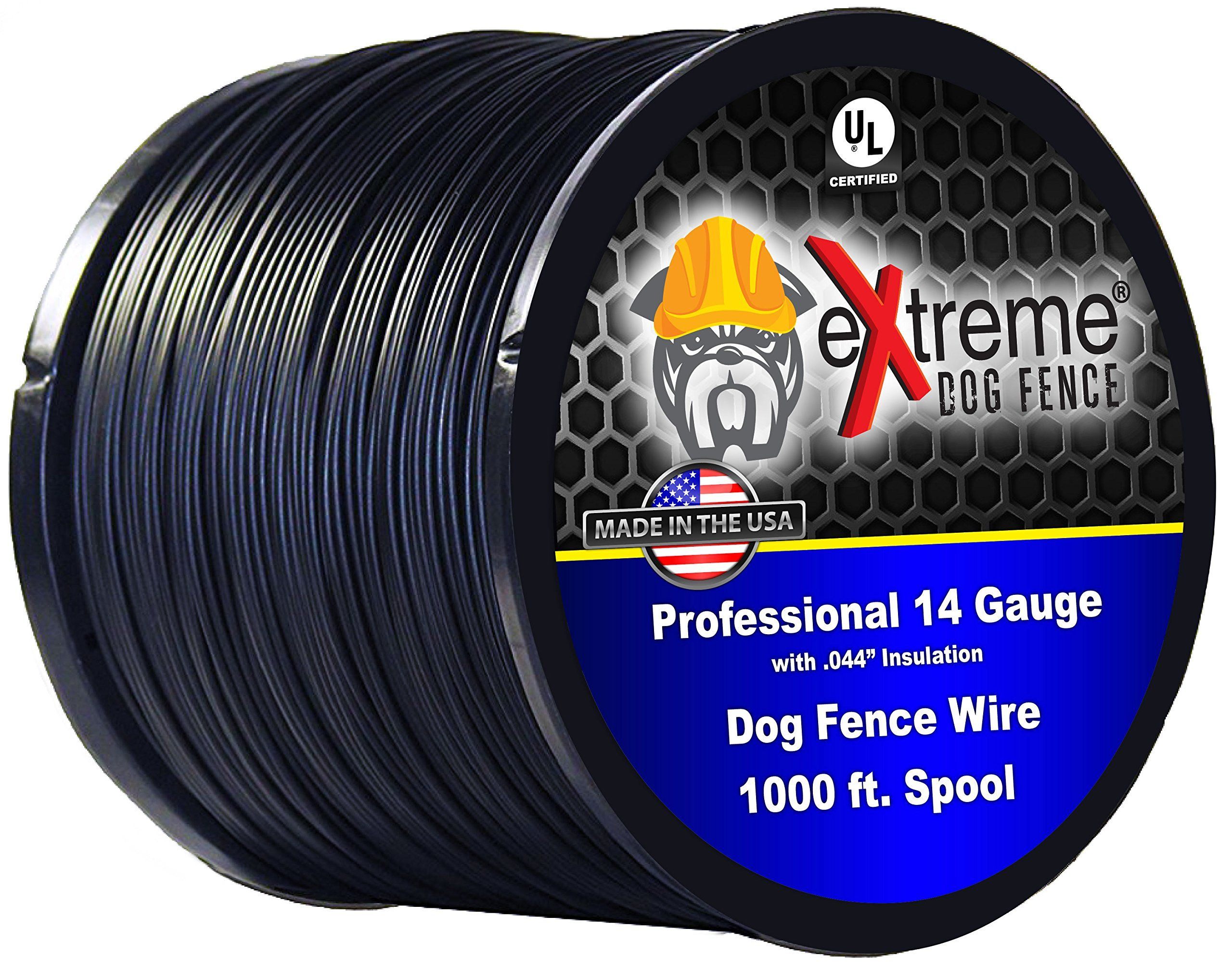 Dog Fence Wire Pure Copper 2000 Feet Of 14 Gauge 044 Professional Grade Electric Dog Fence Boundary Wire Solid Copper Core Weatherpr Dog Fence Wire Fence Pure Copper