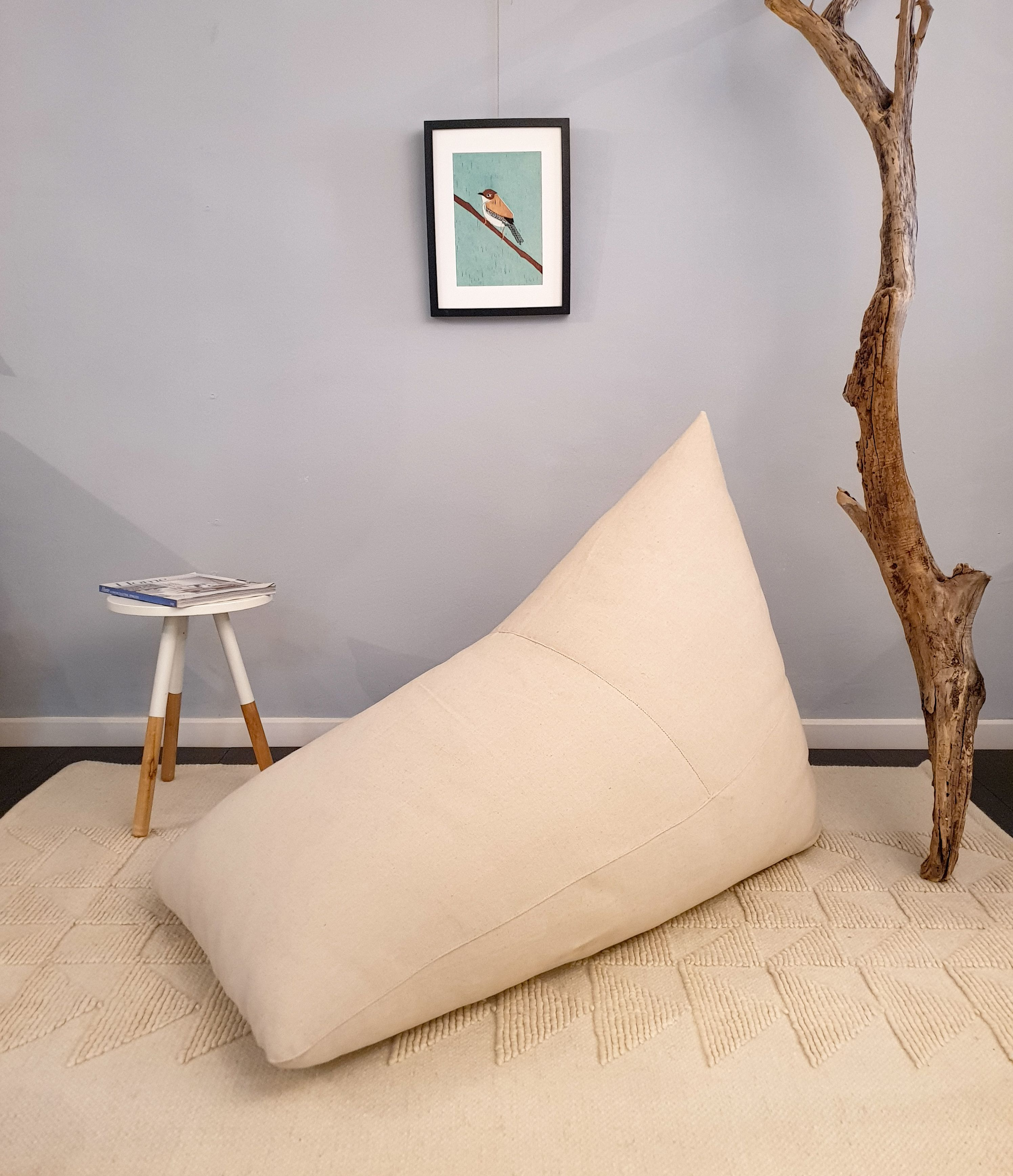 Groovy All Natural Wool Filled Bean Bag Chair Free Of Toxins And Machost Co Dining Chair Design Ideas Machostcouk