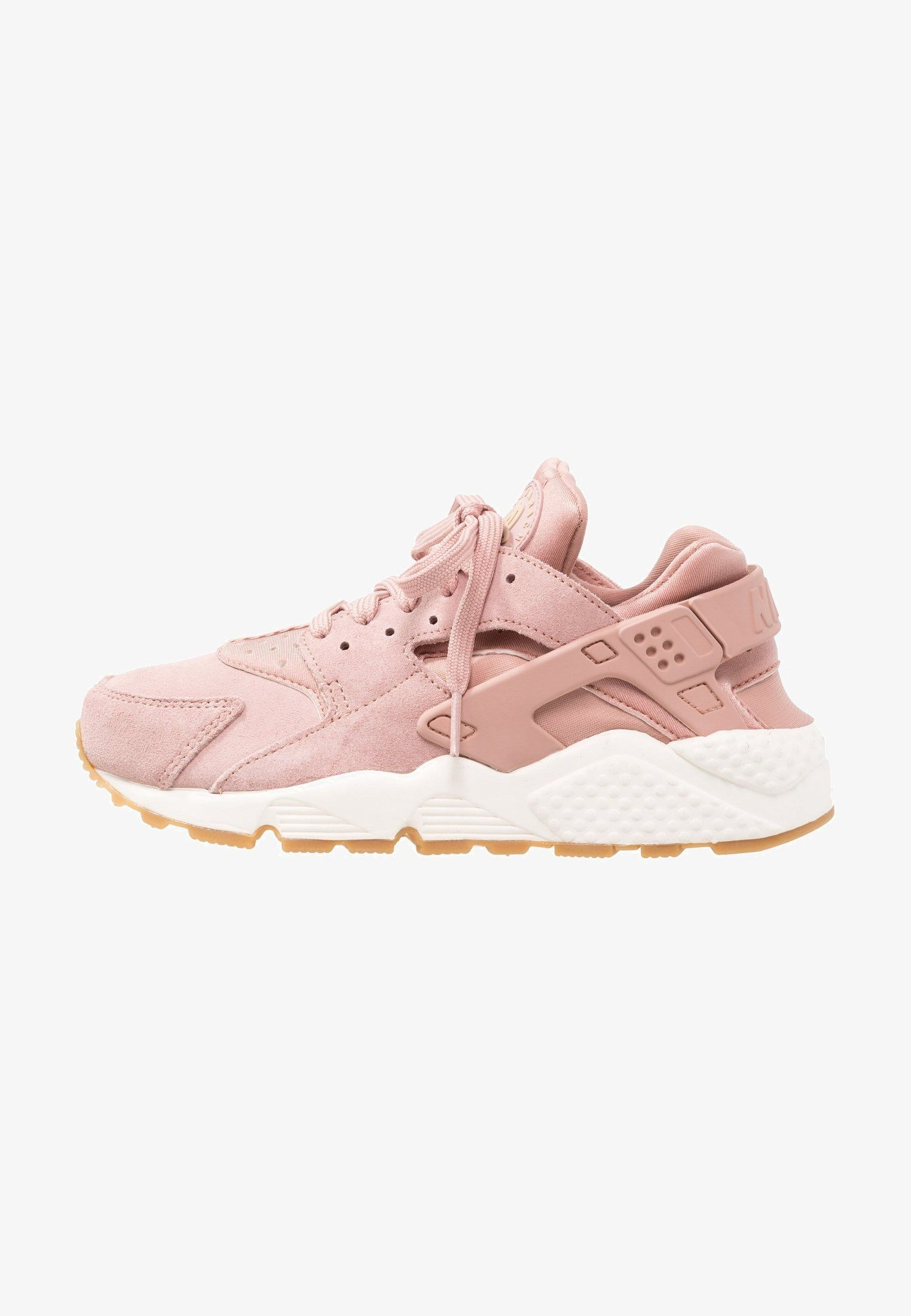 Nike Sportswear AIR HUARACHE RUN SD - Sneakers laag - particle  pink mushroom sail light brown - Zalando.be 839b20502b06