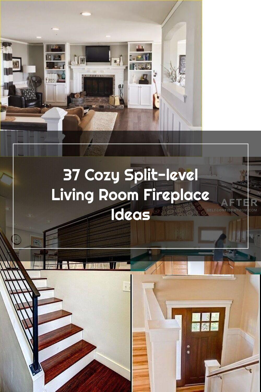 37 cozy splitlevel living room fireplace design ideas in